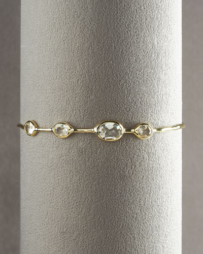 18K Gold Rock Candy Bangle in Mother-of-Pearl