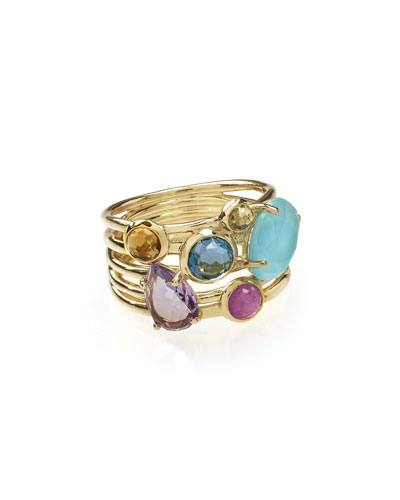 18k Rock Candy Gelato 6-Stone Cluster Ring in Liberty