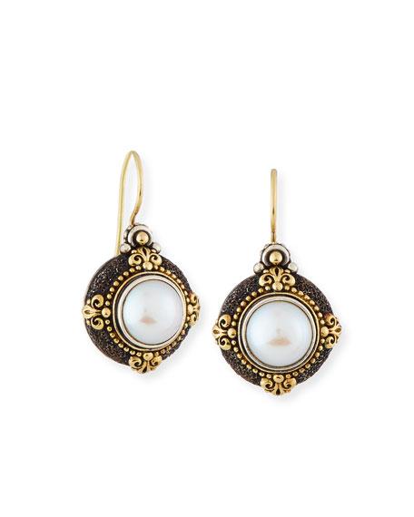 Konstantino Round Pearl Drop Earrings