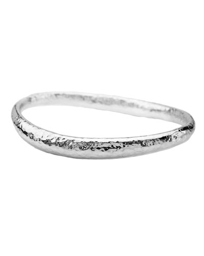 Sterling Silver Glamazon Thick Fettucine Bangle