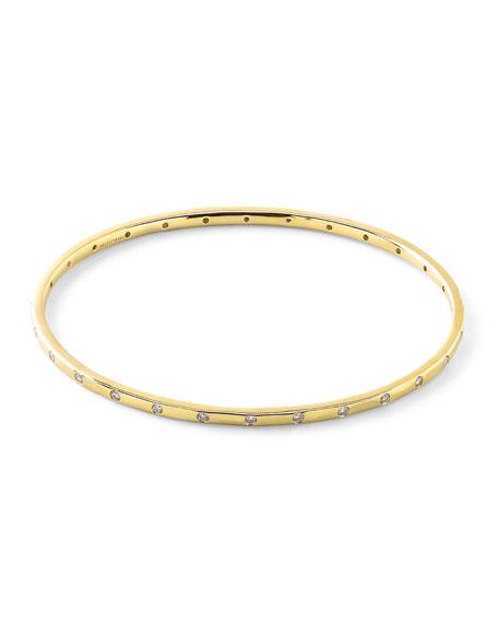 Ippolita 18K Gold Senso™ Thin 28-Stone Bangle with Diamonds (.68ctw)