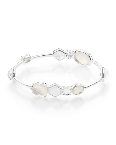 925 Rock Candy 10-Stone Bangle Bracelet in Flirt