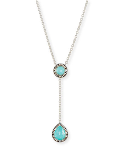 925 Lollipop Pear-Shaped Y-Drop Necklace with Diamonds