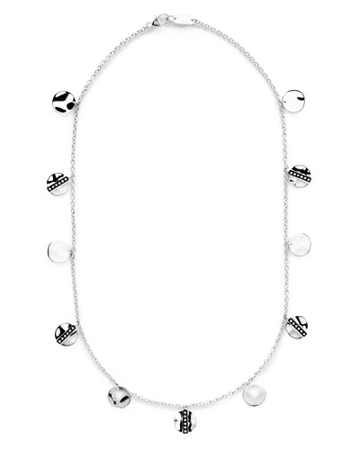 Senso Disc Paillette Necklace with Diamonds, 18