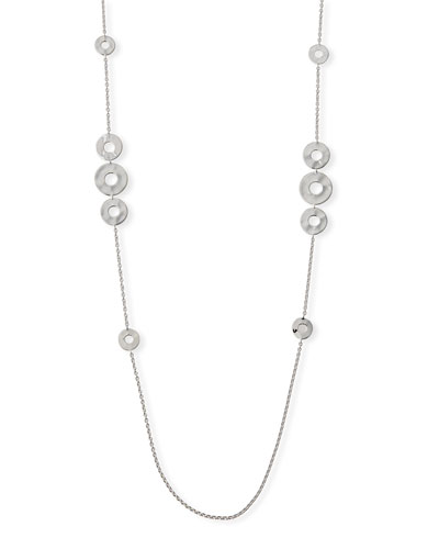 Senso Galaxy Disc Necklace in Sterling Silver, 38