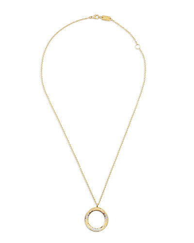 18K Glamazon Wavy Diamond Circle Necklace