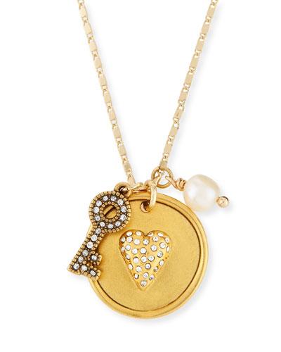 Heart & Key Talisman Pendant Necklace