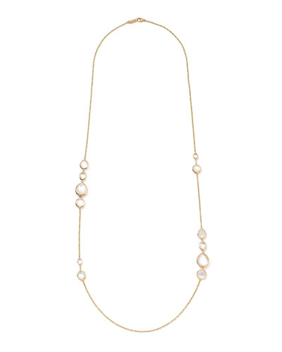 18K Rock Candy Gelato Grouped Station Necklace in Flirt, 37