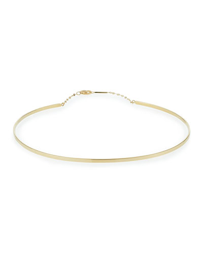 Bond Thin 14K Gloss Choker Necklace