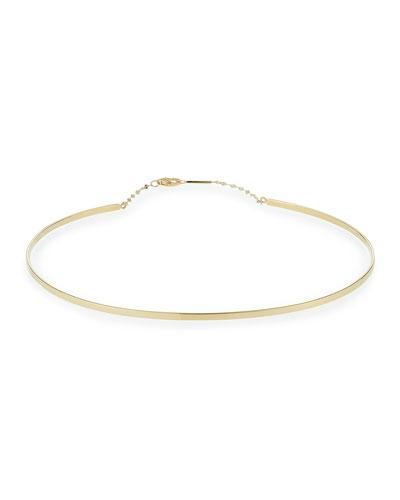 Bond Thin 14K Gloss Choker Necklace
