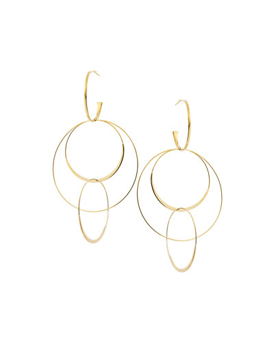 Bond Large 14K Interlocking Flat Hoop Earrings