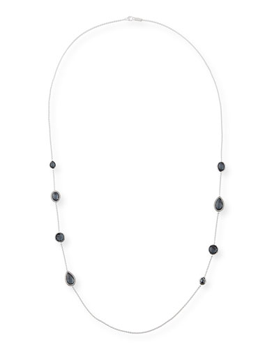 925 Lollipop Multi-Stone Station Necklace in Doublet & Diamonds, 40