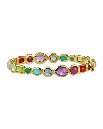 18K Rock Candy Hero Gelato Mixed Hinge Bracelet in Summer Rainbow