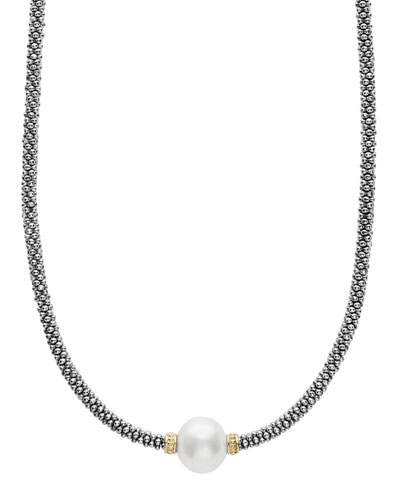 Luna Tahitian Pearl Rope Necklace, 18