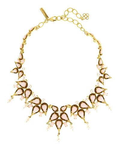 Pear Cabochon Collar Necklace