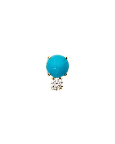 Prive Turquoise & Diamond Single Stud Earring