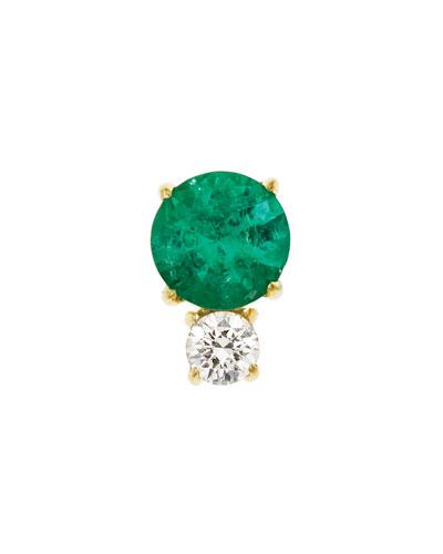 Prive Emerald & Diamond Single Stud Earring