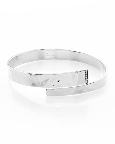 925 Senso&#153 Hinge Bypass Bangle Bracelet with Diamonds