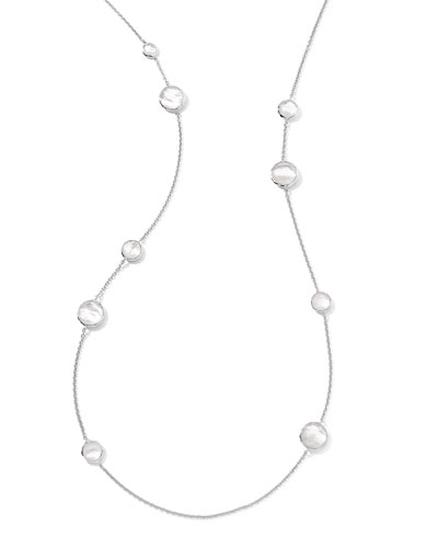 Sterling Silver Wonderland Lollipop Station Necklace in Mother-of-Pearl, 40