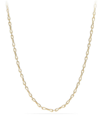 Continuance Small 18K Yellow Gold Chain Necklace, 36