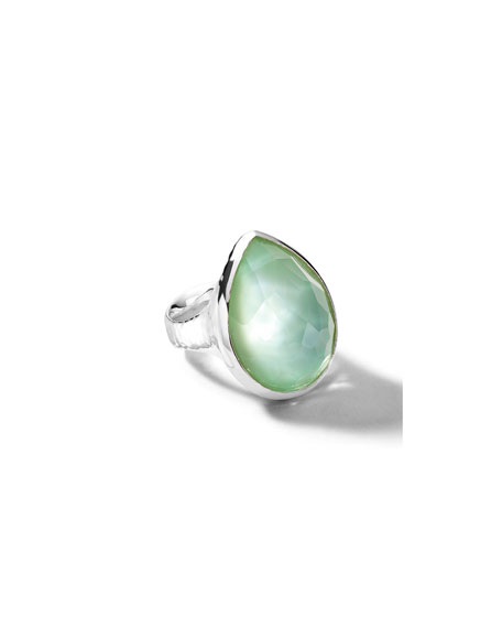 Ippolita Wonderland Teardrop Ring in Sterling Silver with Sky Doublet