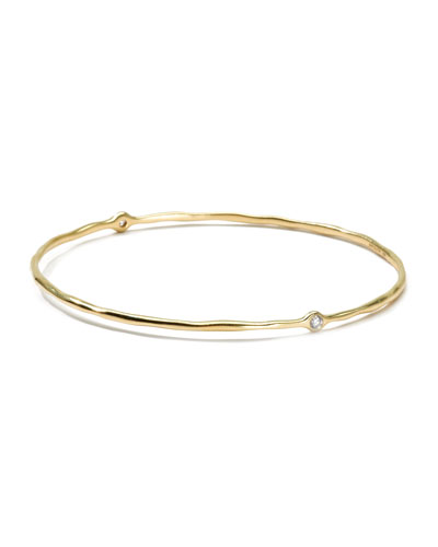 18K Gold 2 Diamond Bangle
