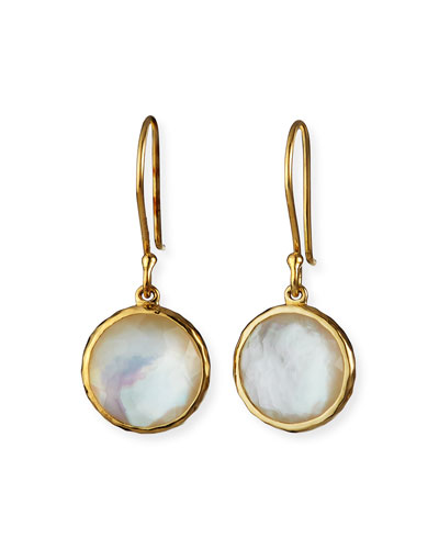 Lollipop® Mini Earrings in 18K Gold with Clear Quartz and ...