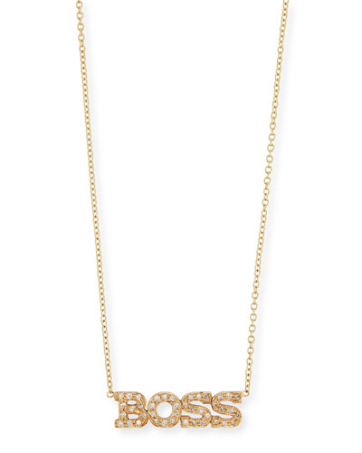 14k Personalized Four Letter Diamond Necklace in 14K Gold