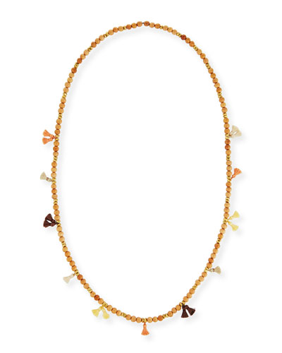 Isa Beaded Tassel Necklace, 42