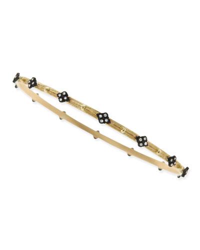 Diamond Cravelli Cross 18k Gold Bangle