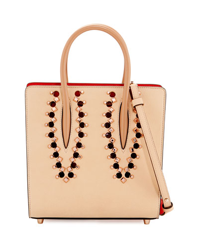 Paloma Small Studded Leather Tote Bag, Neutral/Multi