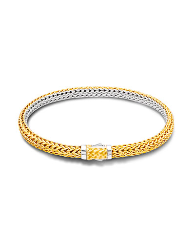 Classic Chain Extra-Small Reversible Silver & Gold Bracelet