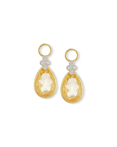 Provence Champagne Citrine & Diamonds Earring Charms