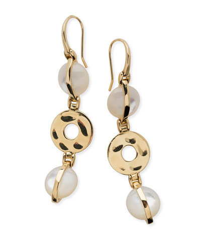 18K Senso™ Wrapped Drop Earrings in Mother-of-Pearl