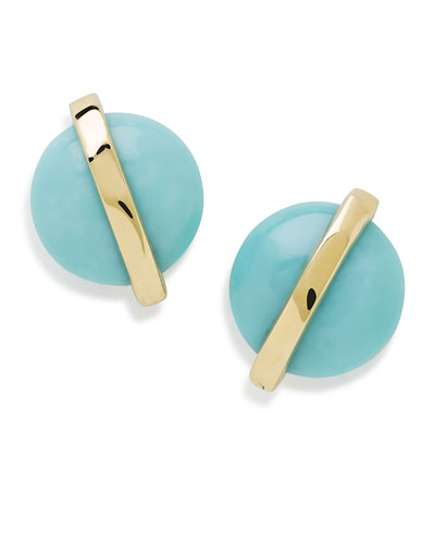 18K Senso™ Wrapped Stud Earrings in Turquoise