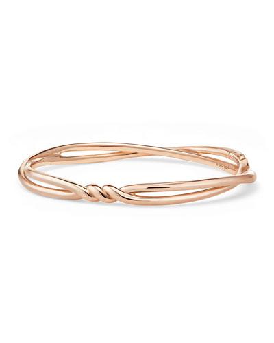 Continuance Twisted 18K Rose Gold Bracelet