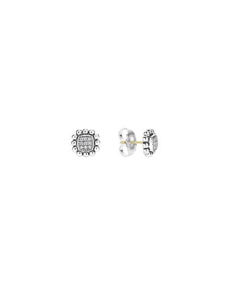 Lagos 10mm Caviar Spark Diamond Stud Earrings