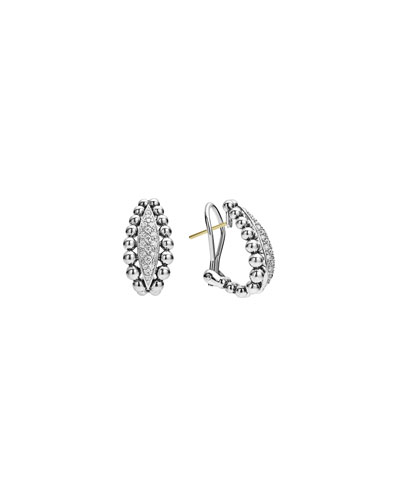 22mm Caviar Spark Diamond Huggie Hoop Earrings