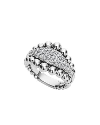 Caviar Diamond Spark Ring, Size 7