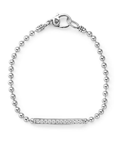 Lagos Small Caviar Spark Diamond Station Bracelet