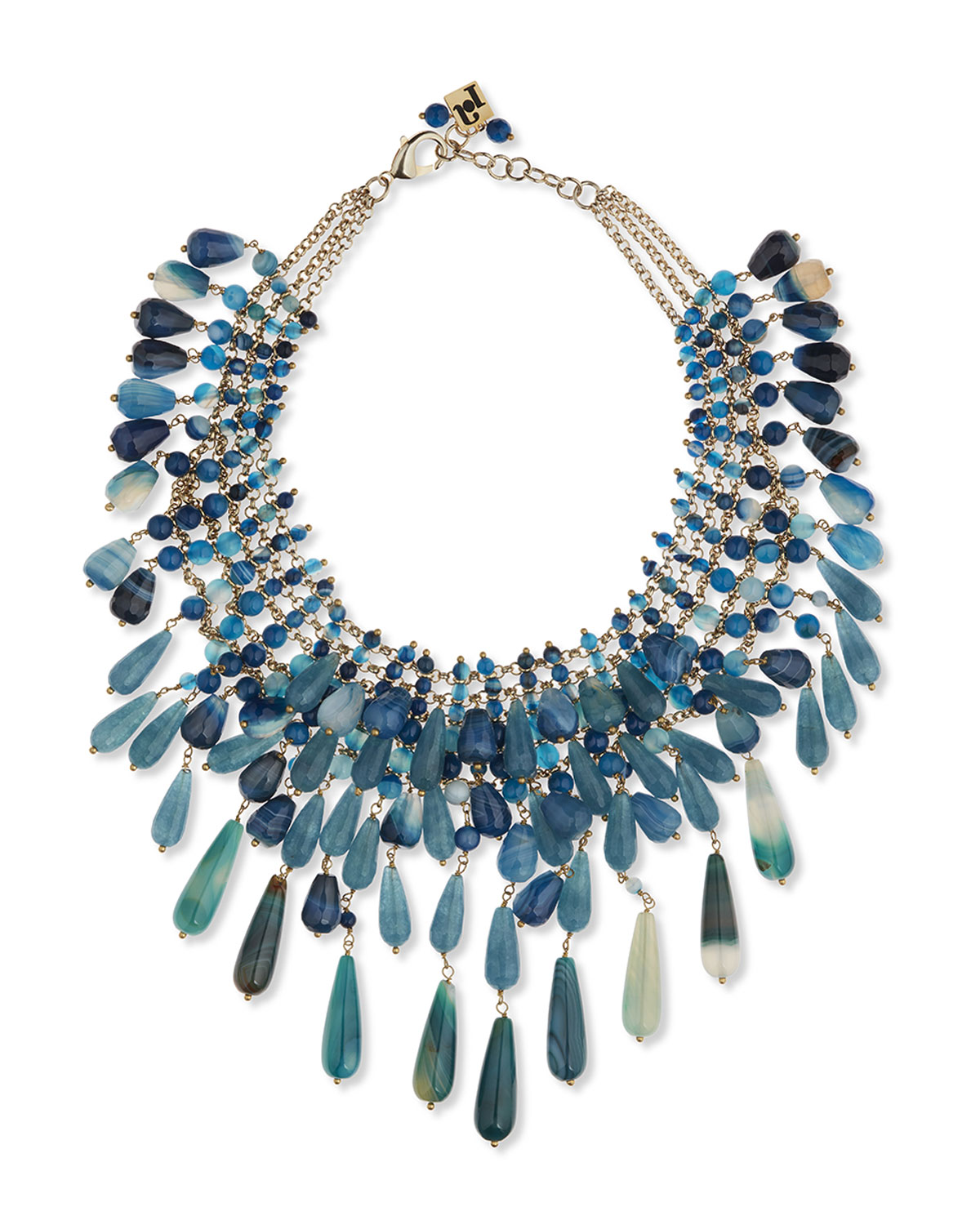 Beaded Agate Statement Necklace