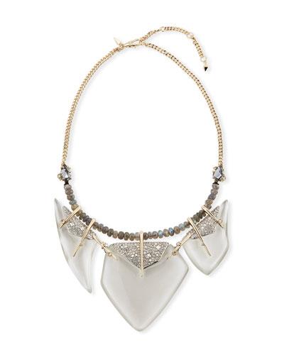 Lucite & Labradorite Bib Necklace