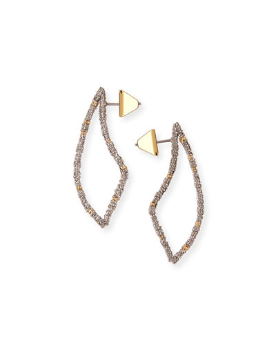 Pavé Crystal-Encrusted Thorn Drop Earrings