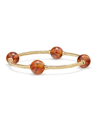 12mm Mustique 18K Amber Station Bracelet