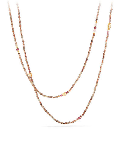 Mustique Tweejoux Andalusite Long Beaded Necklace, 62