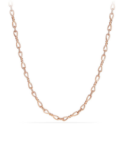Continuance Small 18K Rose Gold Chain Necklace