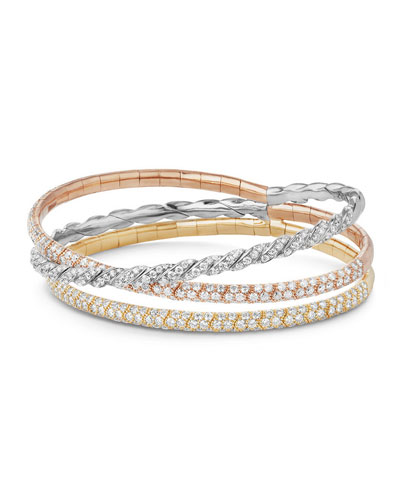 Three-Row Paveflex Bracelet with Diamonds