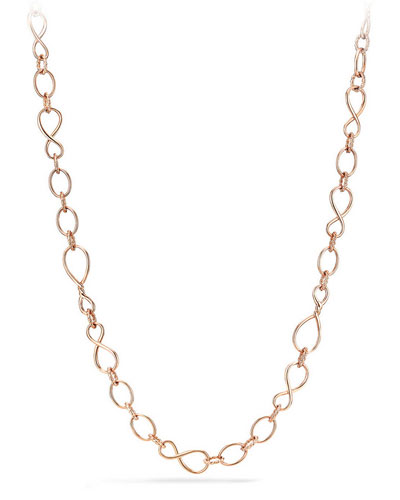 Continuance Medium 18K Rose Gold Chain Necklace, 33