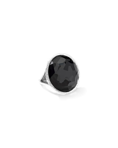 Stella Large Lollipop Ring in Doublet with Diamonds, 0.32