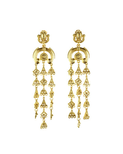 Ornate Tiered Drop Earrings